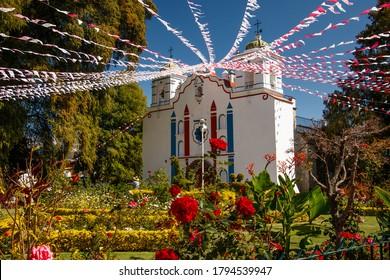 Church in mexican village Tule in Oaxaca region