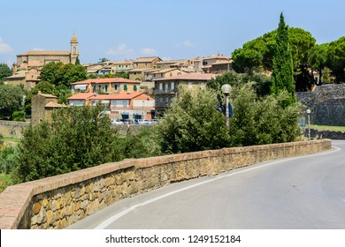 The Church of Montalcino, a village, close to Siena, Toscany