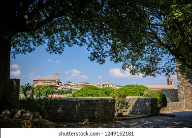 The Church of Montalcino, a village in the Val D'orcia, close to Siena, Toscany