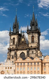 The Church of Mother of God in front of Tyn in Prague, Czech Republic