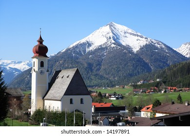 church and mountain in Tirol, Austria