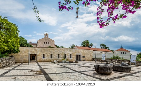 The Church of the Multiplication of the Loaves and Fish, Roman Catholic church on shore of the Sea of Galilee in Tabgha, Israe