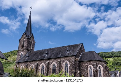 Church Neef at the Moselle Rhineland-Palatinate Germany.