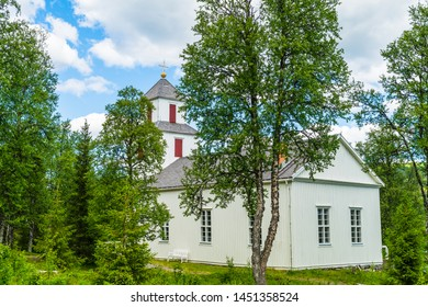 A Sámi church in northern Sweden located in a small Sami village called Fatmomakke and is located along the Wilderness Road