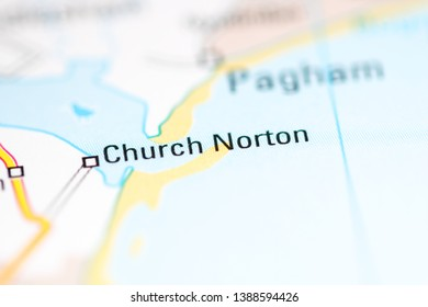 Church Norton. United Kingdom on a geography map