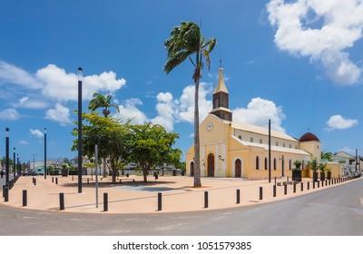 Church Notre Dame de la Visitation in Port Louis, Guadeloupe