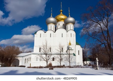 Church in Novodevichy Convent in Moscow, Russia