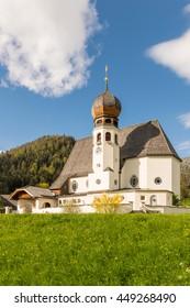 Church in Oberau, Berchtesgadener Land in Germany