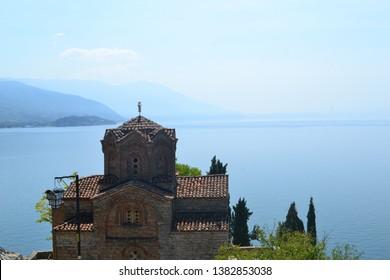 A Church in Ohrid, near Ohrid Lake