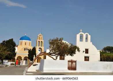 Church in Oia on Santorini, greece