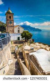 Church On Amalfi Coast - Salerno Province, Campania Region, Italy, Europe