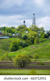 Church on a hill in Moscow region, Russia