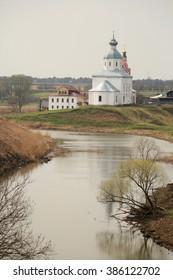 Church on Kamenka river in Suzdal, Russia.