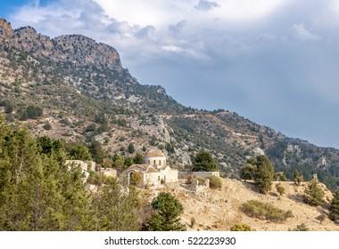 A church on Kyrenia Mountains