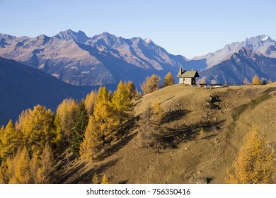 Church on the mountains of Valtellina, Italy