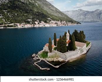 Church on Saint George island in Perast, Montenegro