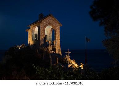 Church on the Sea in Alassio