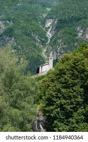 Church on the top of a promontory in the Genoa valley a little area close to Madonna di Campiglio