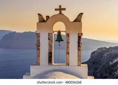 church orthodox bell santorini greece