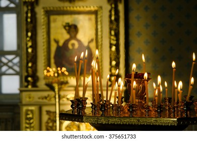 church. Orthodox Church. Christianity. church lighted candles. icon. religion.