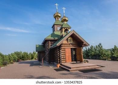 Church of Orthodox skete of St Anthony and Theodosius of Kiev Caves in Odrynki, small village in Podlasie region of Poland