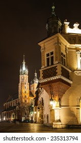 Church of Our Lady Assumed into Heaven is Brick Gothic church re-built in 14th century , adjacent to Main Market Square in Krakow, Poland.
