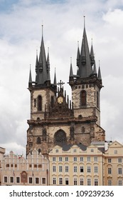 Church Of Our Lady Before Paling under cloudy sky, Prague, Czech Republic