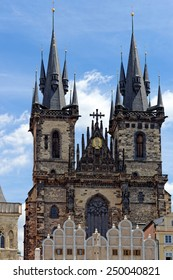 Church of our Lady before Tyn - Tyn Church in the Old town square. The name of the church originates from the Tyn Courtyard behind the church.