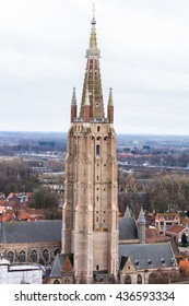 The Church of Our Lady in Bruges in the afternoon