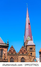Church of Our Lady or Kirche Unser Lieben Frauen is a protestant church near the Market Square in Bremen, Germany - Shutterstock ID 1991377421
