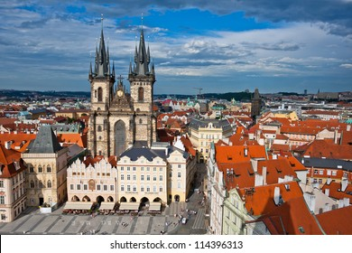 Church of our Lady - the main church of old town of Prague Czech Republic