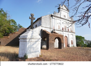 Church of Our Lady of the Mount. Goa/India. most famous old Goa church. Right beside Se Cathedral, this church offers mesmerizing views of Mandovi river, Chorao islands, and Old Goa. Toursit.