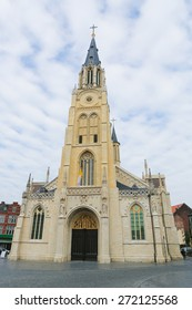 Church of Our Lady on the central market square of Sint-Truiden, Limburg, Belgium.
