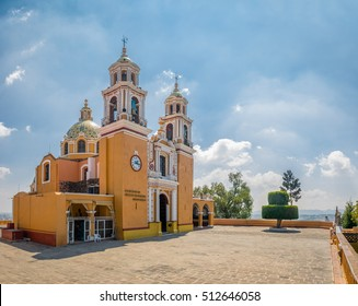 Church of Our Lady of Remedies at the top of Cholula pyramid - Cholula, Puebla, Mexico