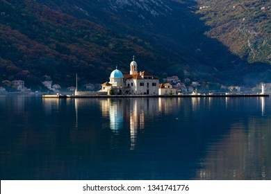 The church of Our Lady of the Rocks. Perast, Kotor bay, Montenegro