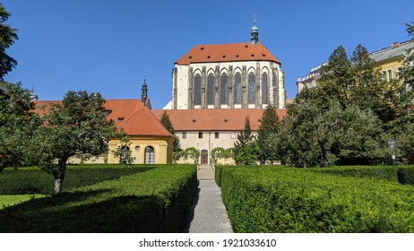 Church of Our Lady of the Snows seen from the Franciscan Gardens (Františkánská zahrada) in Prague - taken September 2020 - Shutterstock ID 1921033610