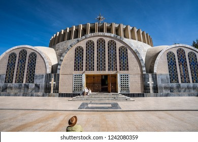 Church of Our Lady St. Mary of Zion, the most sacred place for all Orthodox Ethiopians in Aksum, Ethiopia.