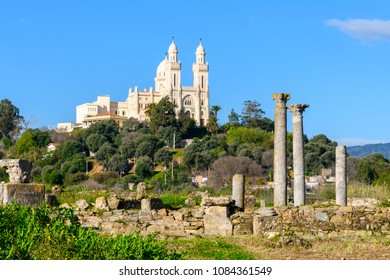 Church over the ruins of Hippo Regius, a Phoenician, Berber and Roman city, Annaba Province, Algeria.