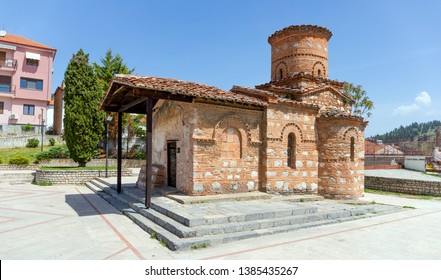 Church of Panagia Koumpelidiki, landmark of Kastoria city, Macedonia, Greece.