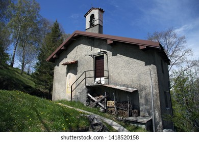 Church at the peak of Piani D'Erna. Lecco. Italy.
