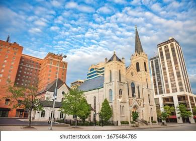 Church in Peoria, IL. Peoria, Illinois, USA.