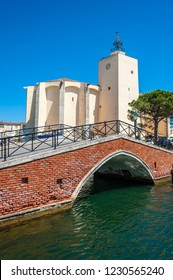 Church Saint-Francois-d´Assise in Port Grimaud in the Department Var of the province Provence-Alpes-Cote d´Azur