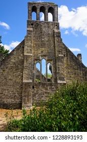 Church ruin architecture in Malahide, Ireland.