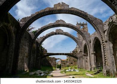 Church ruins in Galicia, Spain