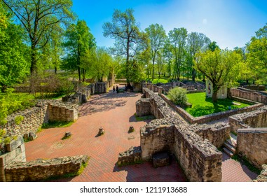 Church, ruins on the Margaret island of Budapest Hungary