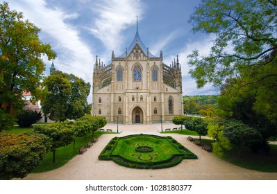 Church of Saint Barbara ( Sv. Svata Barbora) , a Roman Catholic church in the Gothic Style at Kutna Hora , Czech Republic . UNESCO World Heritage Site