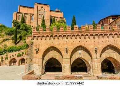 The church of Saint Dominic (San Domenico) in Siena, Toscany