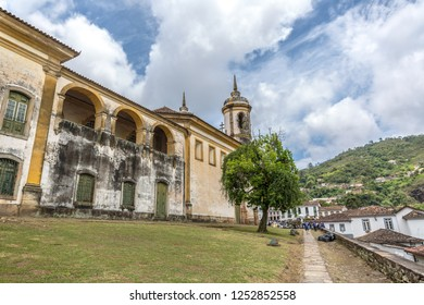 The Church of Saint Francis of Assisi in Ouro Preto City, Unesco Heritage site in Brazil
