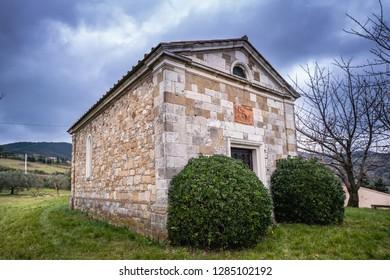 The church of Saint Joseph from Ripa (San Giovanni da Ripa) of the parish of Castellina Marittima, province of Pisa, Tuscany
