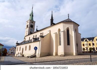 Church of Saint Margaret in Kasperske Hory, southwestern Bohemia, Czech Republic, sunny day, Plzen region - Shutterstock ID 1856721853